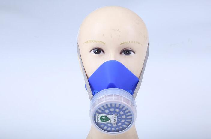 Anti-virus half mask Silicone comfortable respirator single tank anti-virus mask цена 2017
