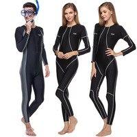 Любителей сиамских водолазный костюм с длинным рукавом всего тела Акула Peel Скорость сухой купальник Для мужчин Для женщин обороны пляжная