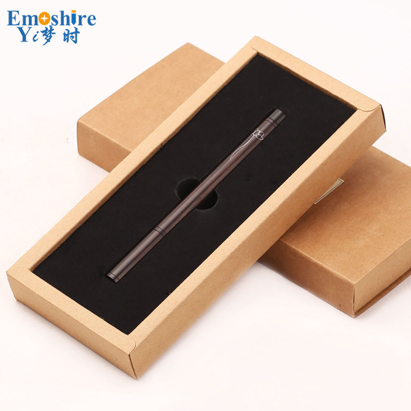 Classic Signature Pen Business Creative Gift Retro Wood Ballpoint Pen Black Sandaline Silver Custom Ballpoint Pen