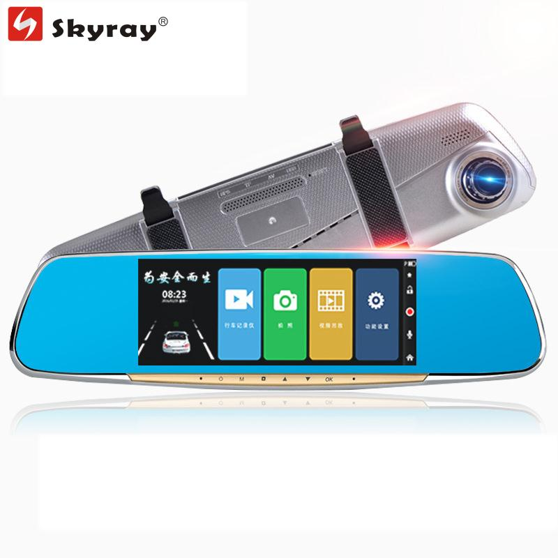 7.0 Touch IPS FHD 1080P Dual Lens Rearviem Mirror Car DVR Dash Camera Cam Recorder with Parking Vedio Night Vision G-sensor 5 inch car camera dvr dual lens rearview mirror video recorder fhd 1080p automobile dvr mirror dash cam