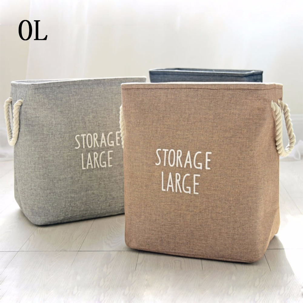 Large Laundry Hamper Bag Canvas Clothes Storage Baskets Home Clothes Barrel Bags Kids Toy Storage Laundry Basket Thickness Bins