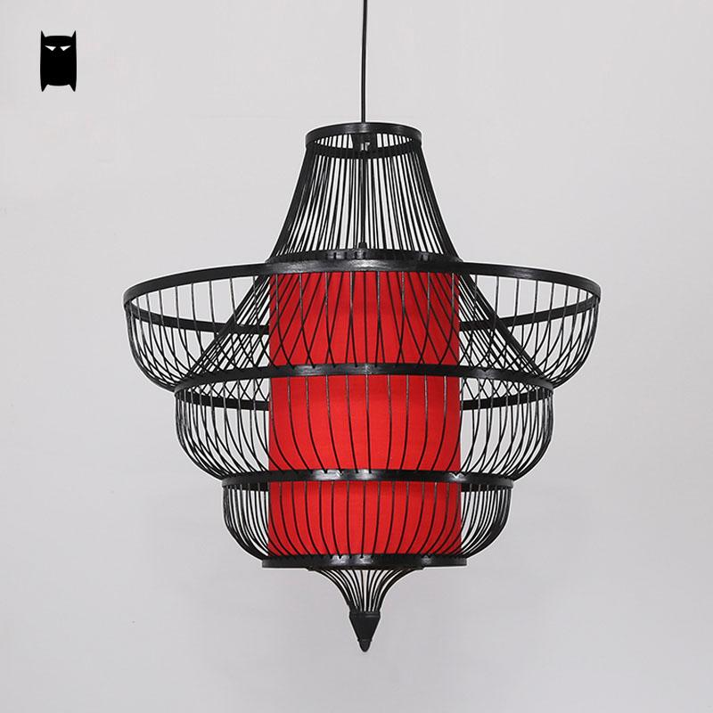 Bamboo Wicker Rattan Shade Conch Pendant Light Fixture Cord Rustic Asian Japanese Lamp Lustre Plafon Luminaria Dining Table Room bamboo wicker rattan round basket bucket pendant light fixture rustic asian japan hanging lamp luminaire design for dining room