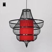 Bamboo Wicker Rattan Shade Conch Pendant Light Fixture Cord Rustic Asian Japanese Lamp Lustre Plafon Luminaria Dining Table Room