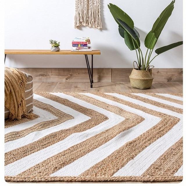 naturel inde qualit de jute la main salon tapis grande taille de chevet tapis - Tapis En Jute