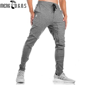 2018 Fall Men's  Black Trousers Jogger Men's Pants Casual Slim Fit Men's Fitness Sweatpants Big Size B-Side