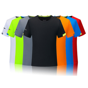 Image 1 - Mens T shirts Fashion Solid Color Short Sleeves Quick drying breathable Slim Fit Mens Summer t shirt