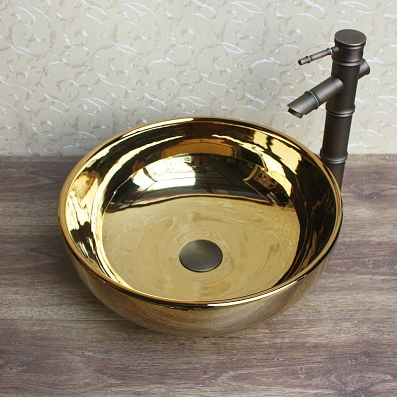 Europe style luxury bathroom vanities chinese Jingdezhen Art Counter Top ceramic vanity top counter top ceramic basin wash