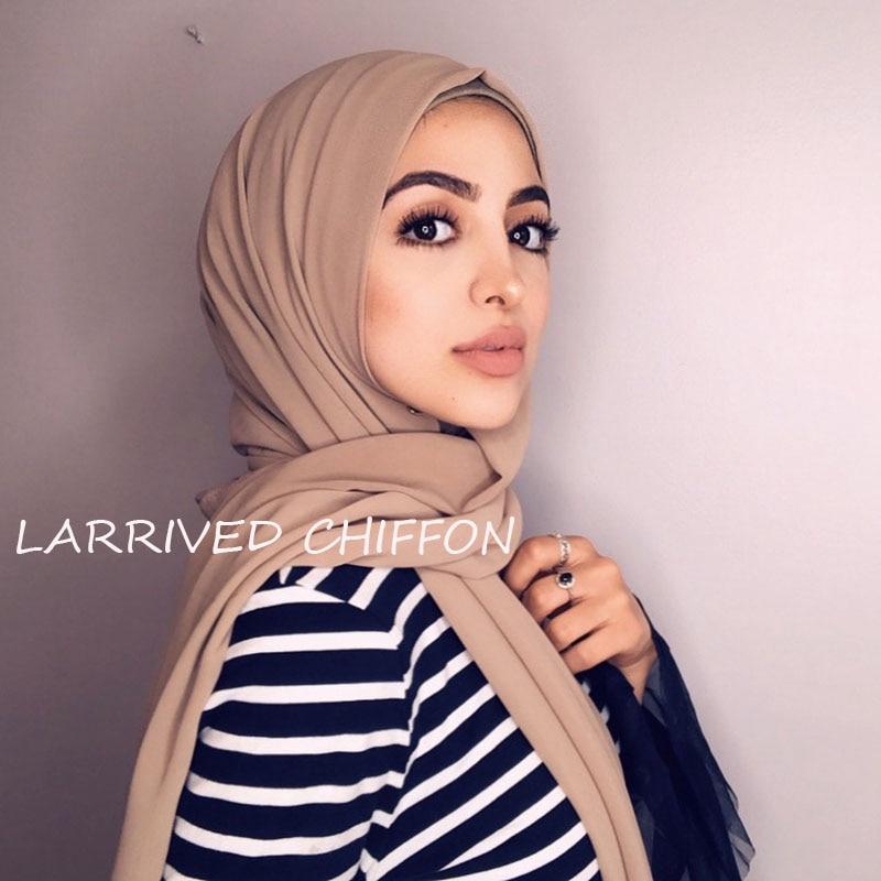 10pcs/lot high quality hot women muslim solid plain chiffon hijabs long Pearl chiffon scarf shawl islamic headwear wraps scarves