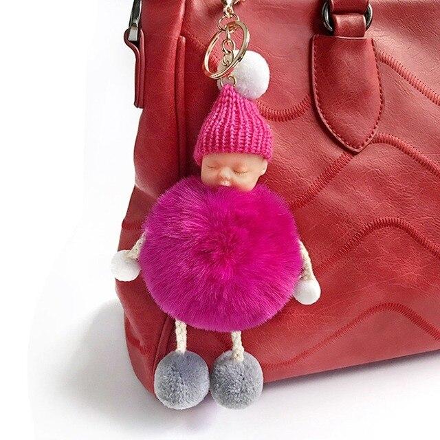 New em estoque Kawaii Bolsa Pingente boneca Acessórios mulheres Chaveiro Bolsas Decoração Meninas Viajar compo o saco Organizador Do Ornamento