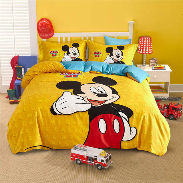 Mickey Mouse Disney Cartoon 3D Printed Bedding Sets Children\'s ...