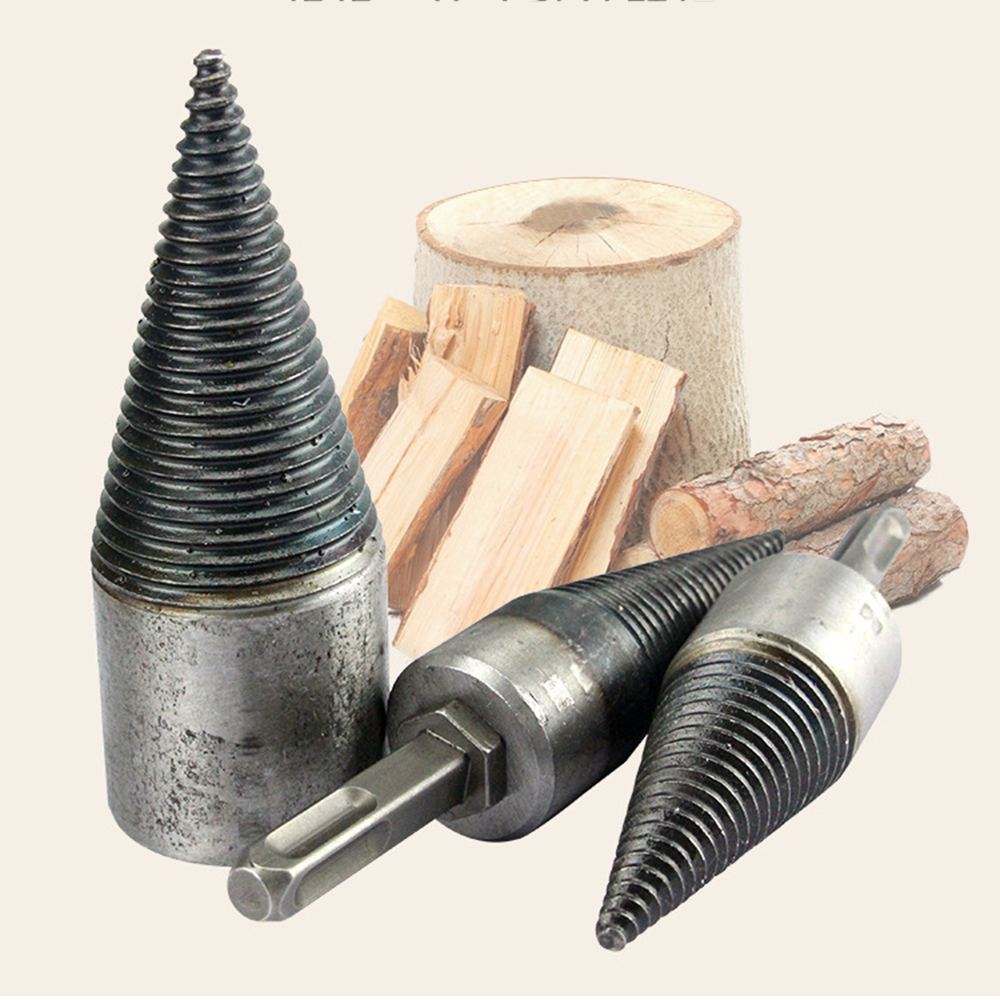 Steel Material Drill Bit Firewood Drill Bits Multi-functional Splitting Cones Log Splitter Wood Splitter Screw Drilling Tools