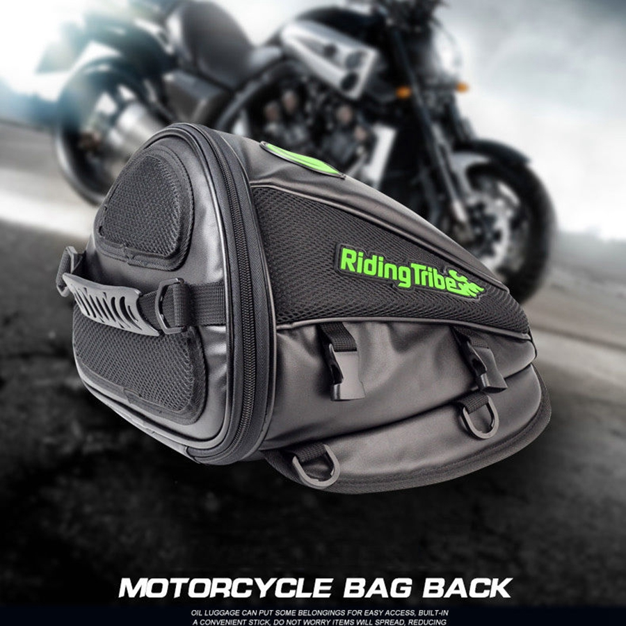 Free shipping 1pcs Motorcycle Large Capacity Luggage Saddle Leather Bags Motorcross Rear Seat Storage Pack Motorcycle Bag