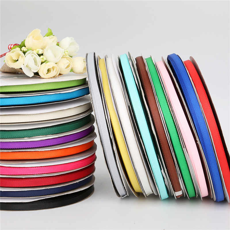 Wholesale 5 Meter/Lot 19 Warna Lebar 7/10/15/20/25 Mm Grosgrain Pita natal Dekorasi DIY Hadiah Wrapping Scrapbooking Kerajinan