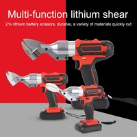 21V Electric Scissors Metal Cutting Tools Iron Shear Cordless Sheet Shears Carbon Steel Aluminum Alloy Stainless Steel Cutter