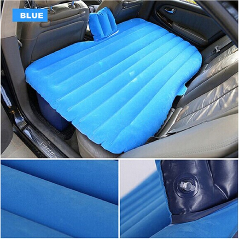 Hot sale Car Back Seat Cover Car Air <font><b>Mattress</b></font> Travel Bed Inflatable <font><b>Mattress</b></font> Air Bed Good Quality Inflatable Car Bed
