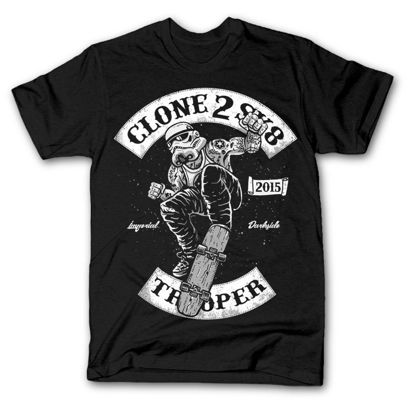 CLONE TROOPER TO SKATE mashup wars imperial dtg mens t shirt tees new 2017New T Shirts Funny Tops Tee New Unisex