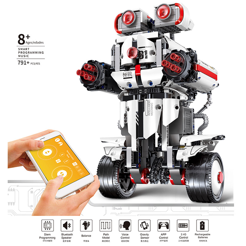 Yeshin App Control Programming Robot With Voice Control Compatible With 17101 Robot Building Blocks Bricks Boys RC Toys-in Blocks from Toys & Hobbies    1