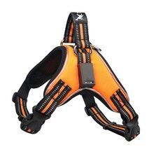 купить Newest Lighting LED Dog Harness Reflective Saddle Pet Collar Harness for Small Medium Large Dog Animals Puppy Vest Collar по цене 719.7 рублей
