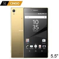 המקורי סמארטפון Sony Xperia Z5 פרימיום E6853 4 גרם LTE יחיד SIM 3 GB זיכרון RAM 32 GB ROM 5.5
