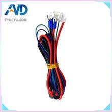 1 PC Anet Yerine A6/A8 Yatağı Yatak Hattı/Kablo Yükseltilmiş MK2A/MK2B/Mendel Için MK3 i3 Anet A8 3d yazıcı Isıtmalı Yatak Kablo...