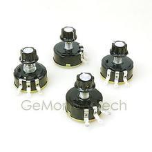 4 pces wx111 (030) 4k7 100 ohm 470 ohm resistência elétrica wirewound potenciômetro botões