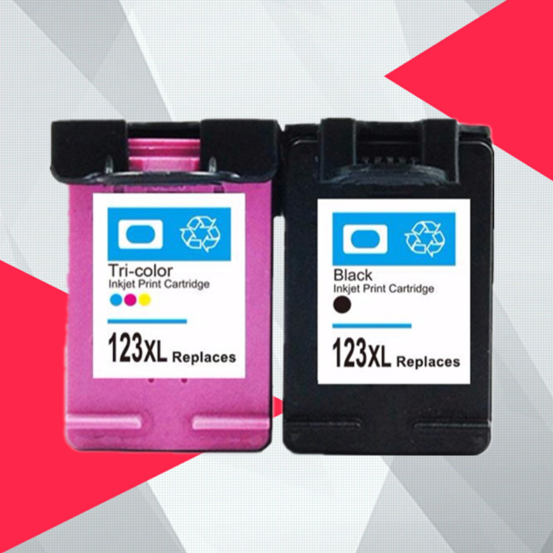 Compatible for <font><b>hp</b></font> 123 XL Replacement ink Cartridge for hp123 123XL for Deskjet 1110 2130 2132 2133 2134 <font><b>3630</b></font> 3632 3637 3638 image