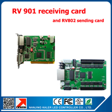 RV901 linsn led control system receiving card+1pc TS802 sending card for full color led display panel p5 p6 p76.2 p10 led module