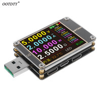 OOTDTY USB Tester QC4.0+ PD3.0 2.0 PPS Quick Charging Protocol Capacity DC meter 4~24V 5A WEB U2
