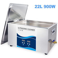 Digital 480~900W Optional Ultrasonic Cleaner 22L Stainless Steel Bath Industrial Use Ultrasonic Washing Remove Oil Rust Hardware