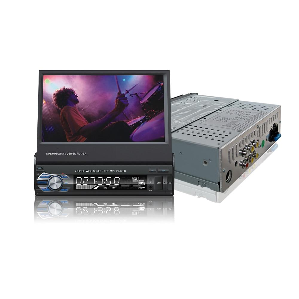 7 дюймов скольжения вниз 1DIN автомобиля стерео FM-радио только Bluetooth mp3 и MP4-плеер с USB и SD