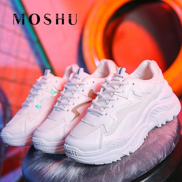 Upgrade Sneakers Women Trainers Ladies Casual Shoes Mesh White Platform Sneakers Wedges Shoes zapatillas chunky mujer plataforma