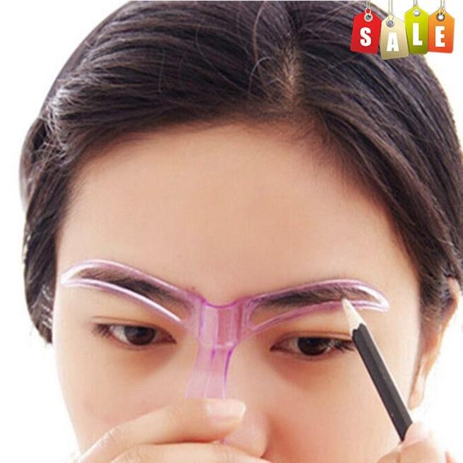 Eyebrow Stencils Professional Beauty Tool Makeup Grooming Drawing Blacken Eyebrow Template Random Color Eyebrow Stencils