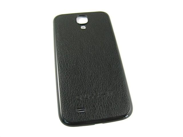 Замена Черный PU Кожа Задняя Крышка Корпус для Samsung Galaxy S4 SIV GT-i9500 i9500/i9505 LTE GT-i9505