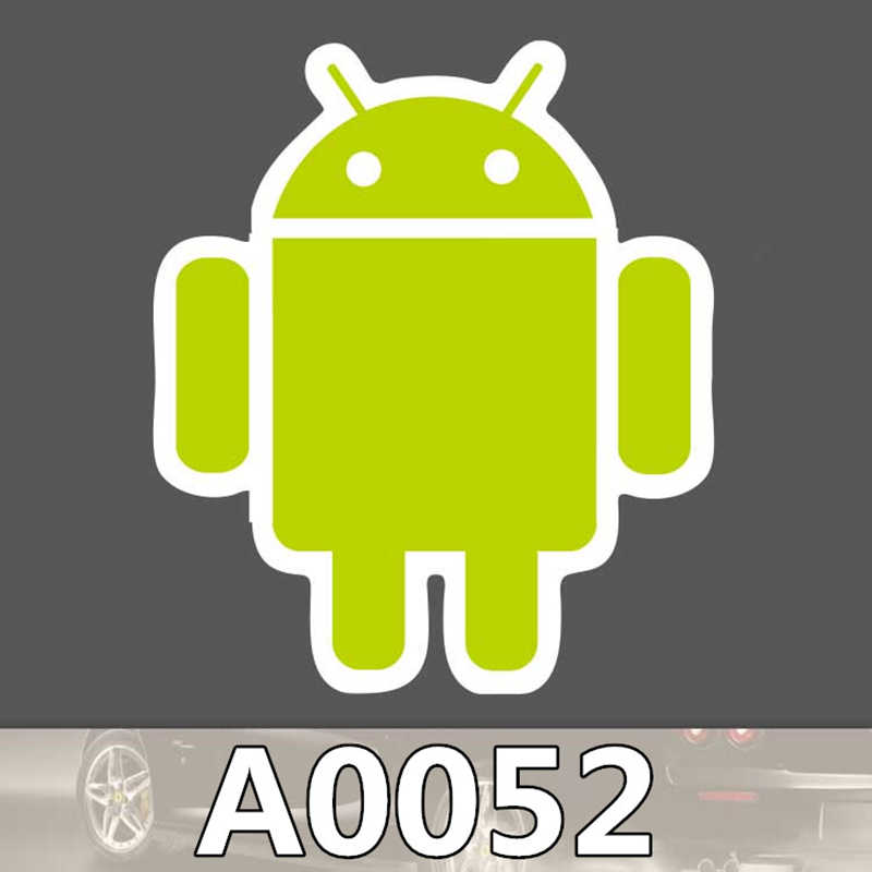 2 pçs/saco android robô adesivo de viagem skate trole adesivo corpo dos desenhos animados graffiti pvc adesivo à prova d000água a0009