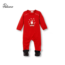 2017 Christmas Baby Girls Boys Casual Clothes Newborn Infant Bebes Romper Kids Costume Clothing 0-18M