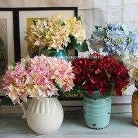 Ortancaların ve vazo seti, ev düğün dekorasyon, Masa Centerpieces, çiçek düzenleme, mor kırmızı mavi beyaz pembe