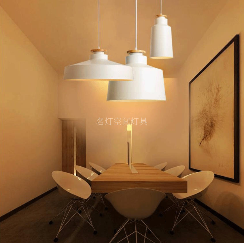 A1 The Nordic modern NEW bar Pendant Lights Taiwan bedroom Cafe cover art creative log head aluminum pendant lamp FG958
