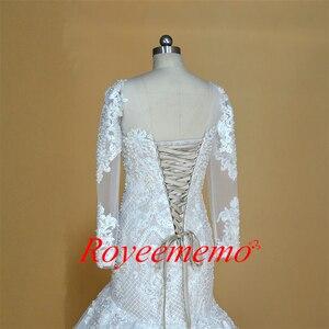 Image 3 - Champagne e marfim vestido de casamento do projeto do laço especial clássico estilo sereia do vestido de casamento custom made fábrica de preços por atacado