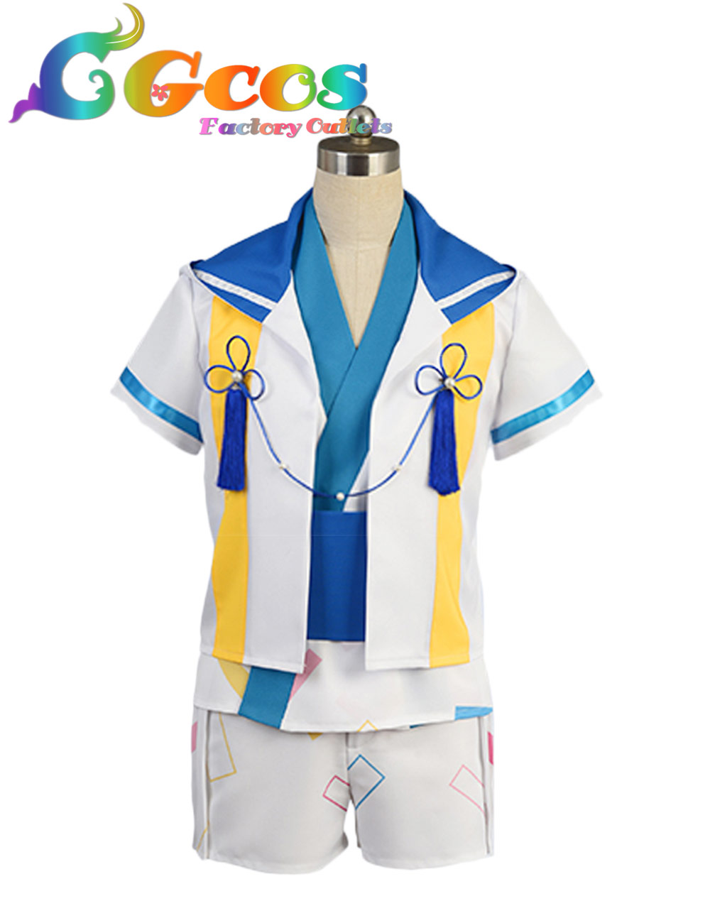 CGCOS Free Shipping Cosplay Costume Ensemble Stars Tenma Mituru Uniform New in Stock Halloween Christmas Party