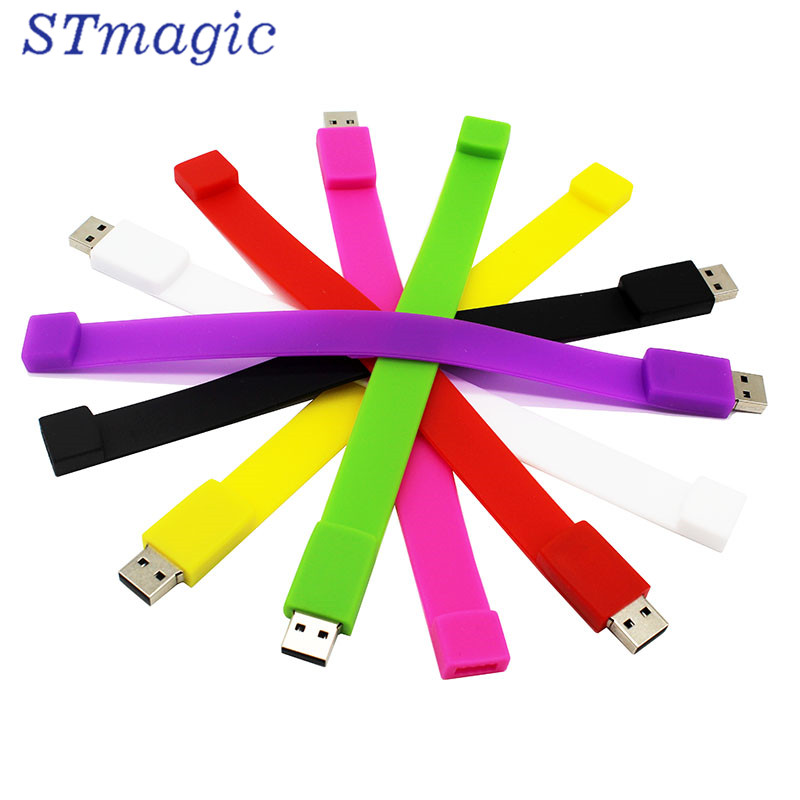 STmagic creative 10 צבע צמיד pendrive 4 גרם 8 גרם 16 גרם 32 גרם 64 גרם Usb 2.0 Usb דיסק און קי pendrive
