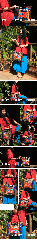 Original Elephants Embroidery Bags