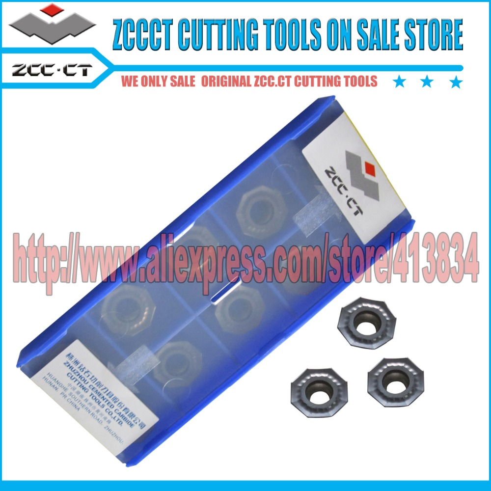 10pcs ZCC milling cutter OFKT05T3 DM YBG202 ZCCCT insert carbide tools cutting tool for steel stainless