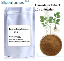 Natural Epimedium extract 10:1 yin yang huo 100g/lot for healthcare supplement for long time sex