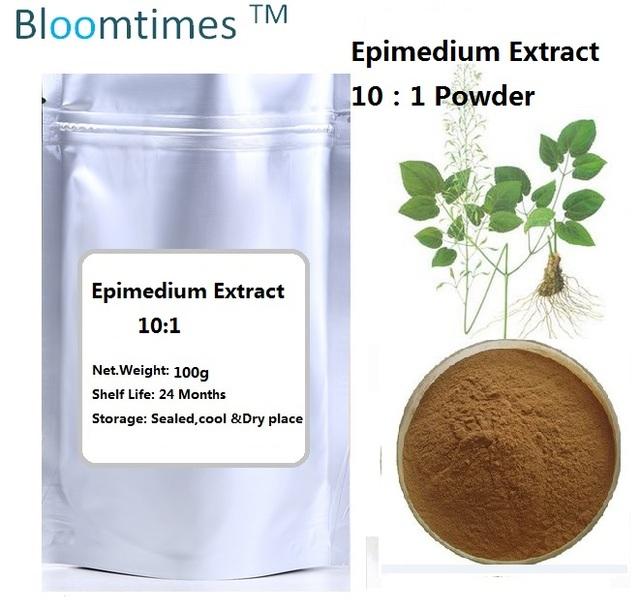 Natural extrato de Epimedium 10:1 yin yang huo 100 g/lote para suplemento de saúde para o sexo tempo