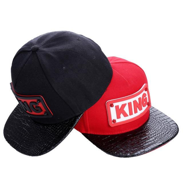 e99396fd1a3 Fashion Style Hiphop Casual Hat Red Black Rubber Letter KING Snapbacks  Dance Caps Hip Hop Hats Baseball Caps IU935265