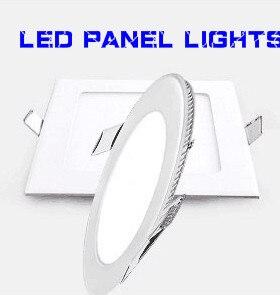 57c83bc9b864 Caliente! Panel de luz LED 25 W redondo cuadrado LED panel de luz led  downlight iluminación + conductores DHL libre