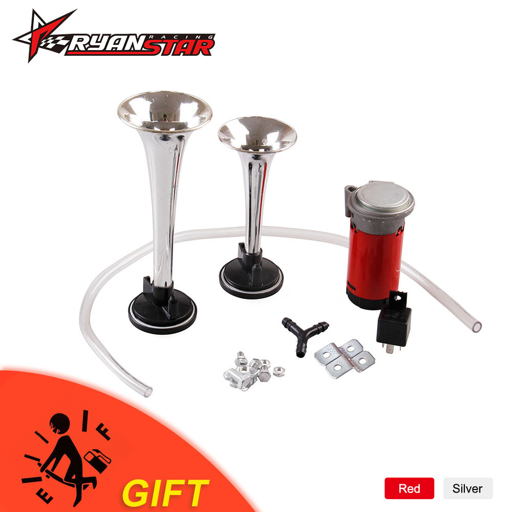 Back To Search Resultsautomobiles & Motorcycles Obedient Silver/red Loud 12v 135db Twin Trumpet Air Horn & Compressor Set Kit Car Boat Truck Ah006