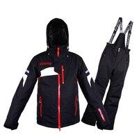 Лыжный костюм для мужчин зима 2018 непромокаемая ветрозащитная Утепленная зимняя одежда мужские лыжные комплекты куртка лыжный спорт и Сноу