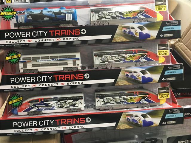 Brand new jakks pacific power trenes urbanos 30 cm motorizado motor eléctrico de juguete trenes envío al azar