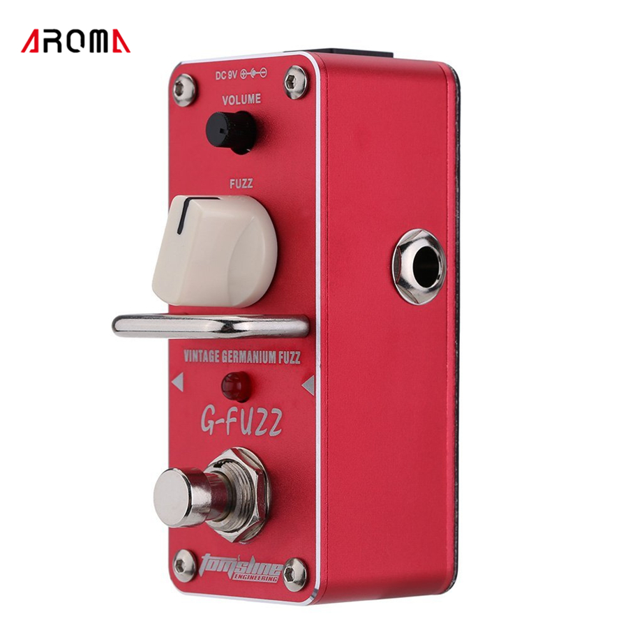 AROMA AGF-3 G-FUZZ Vintage Germanium Fuzz Guitar Effect Pedal Mini Analogue with True Bypass mooer ensemble queen bass chorus effect pedal mini guitar effects true bypass with free connector and footswitch topper